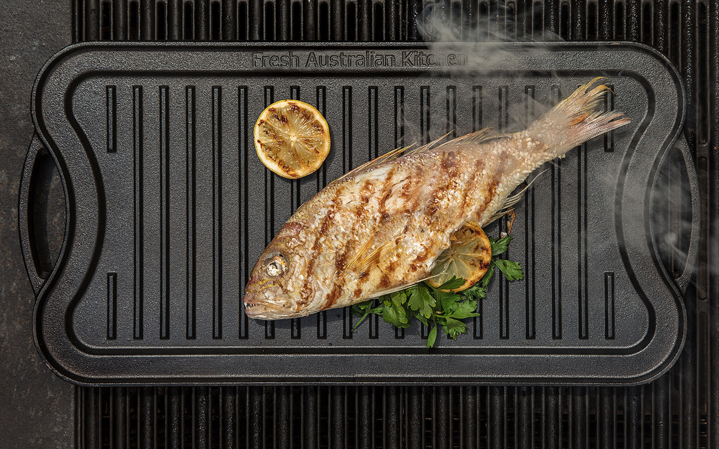 red snapper auf grill